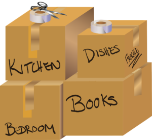 downsizing boxes by room